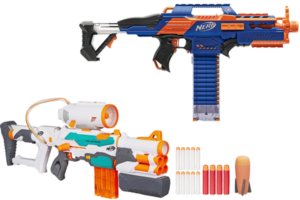 Nerf Modulus Tri-Strike is featured by three separate attachments give you  3 separate attachments give you 3 ways to blast. Also an elite blaster to  create ...